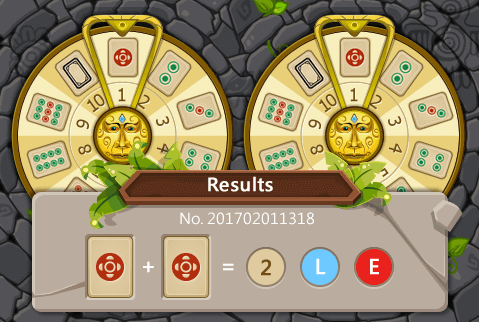 BB High Low-draw result and winning combination