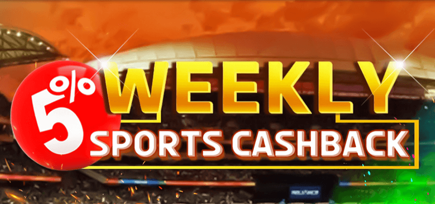 New Players Only - 5% Weekly Sports Cashback to INR 15,000.